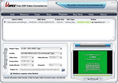 Free 3GP Video Converter 3.2.2.57 - Download 3.2.2.57