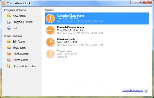 Citrus Alarm Clock 2.0