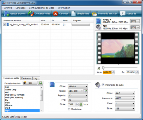 Koyote Free Video Converter - Download 3.0