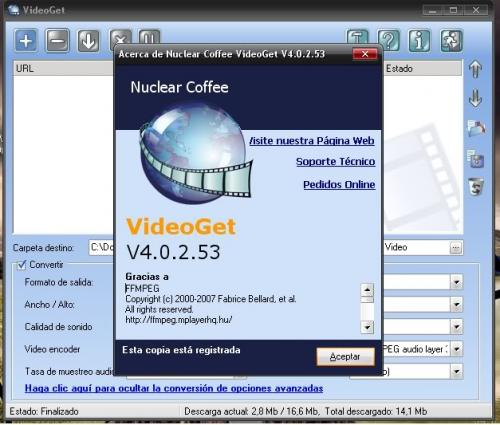 VideoGet 3.0.2.48 - Download 3.0.2.48